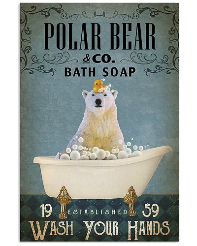 Vintage Bath Soap Polar Bear
