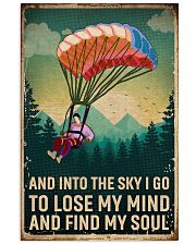 Retro Sky Find My Soul Paragliding 11x17 Poster front