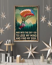 Retro Sky Find My Soul Paragliding 11x17 Poster lifestyle-holiday-poster-1
