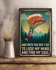 Retro Sky Find My Soul Paragliding 11x17 Poster lifestyle-poster-3