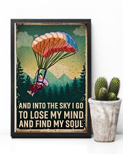 Retro Sky Find My Soul Paragliding 11x17 Poster lifestyle-poster-8