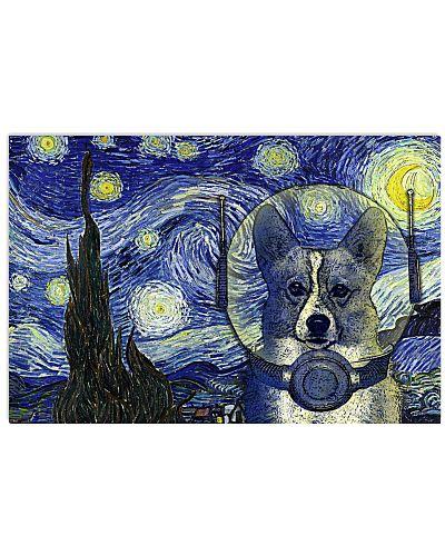 Starry Night Space Corgi