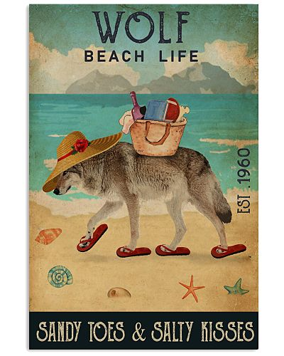 Beach Life Sandy Toes Wolf