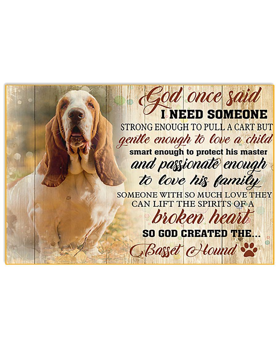 God Once Said Basset Hound 17x11 Poster