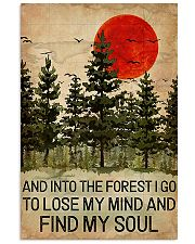 And Into The Forest Red Sun Camping 11x17 Poster front