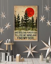 And Into The Forest Red Sun Camping 11x17 Poster lifestyle-holiday-poster-1