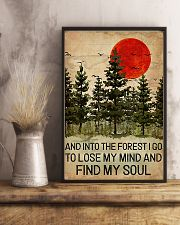 And Into The Forest Red Sun Camping 11x17 Poster lifestyle-poster-3
