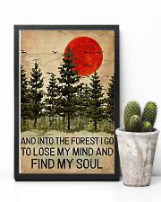 And Into The Forest Red Sun Camping 11x17 Poster lifestyle-poster-8