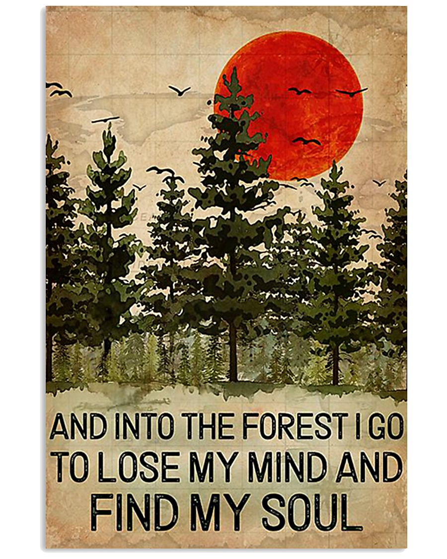 And Into The Forest Red Sun Camping 16x24 Poster