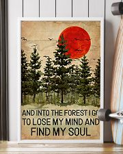And Into The Forest Red Sun Camping 16x24 Poster lifestyle-poster-4