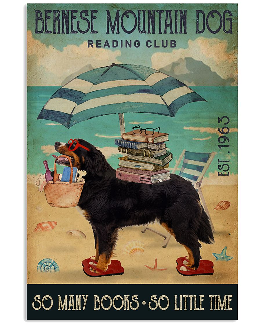 Beach Reading Club Books Bernese Mountain Dog 11x17 Poster