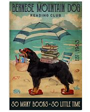 Beach Reading Club Books Bernese Mountain Dog 11x17 Poster front