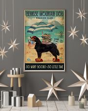 Beach Reading Club Books Bernese Mountain Dog 11x17 Poster lifestyle-holiday-poster-1
