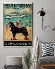 Beach Reading Club Books Bernese Mountain Dog 11x17 Poster lifestyle-poster-1