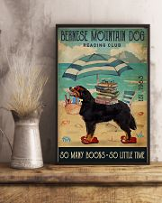 Beach Reading Club Books Bernese Mountain Dog 11x17 Poster lifestyle-poster-3