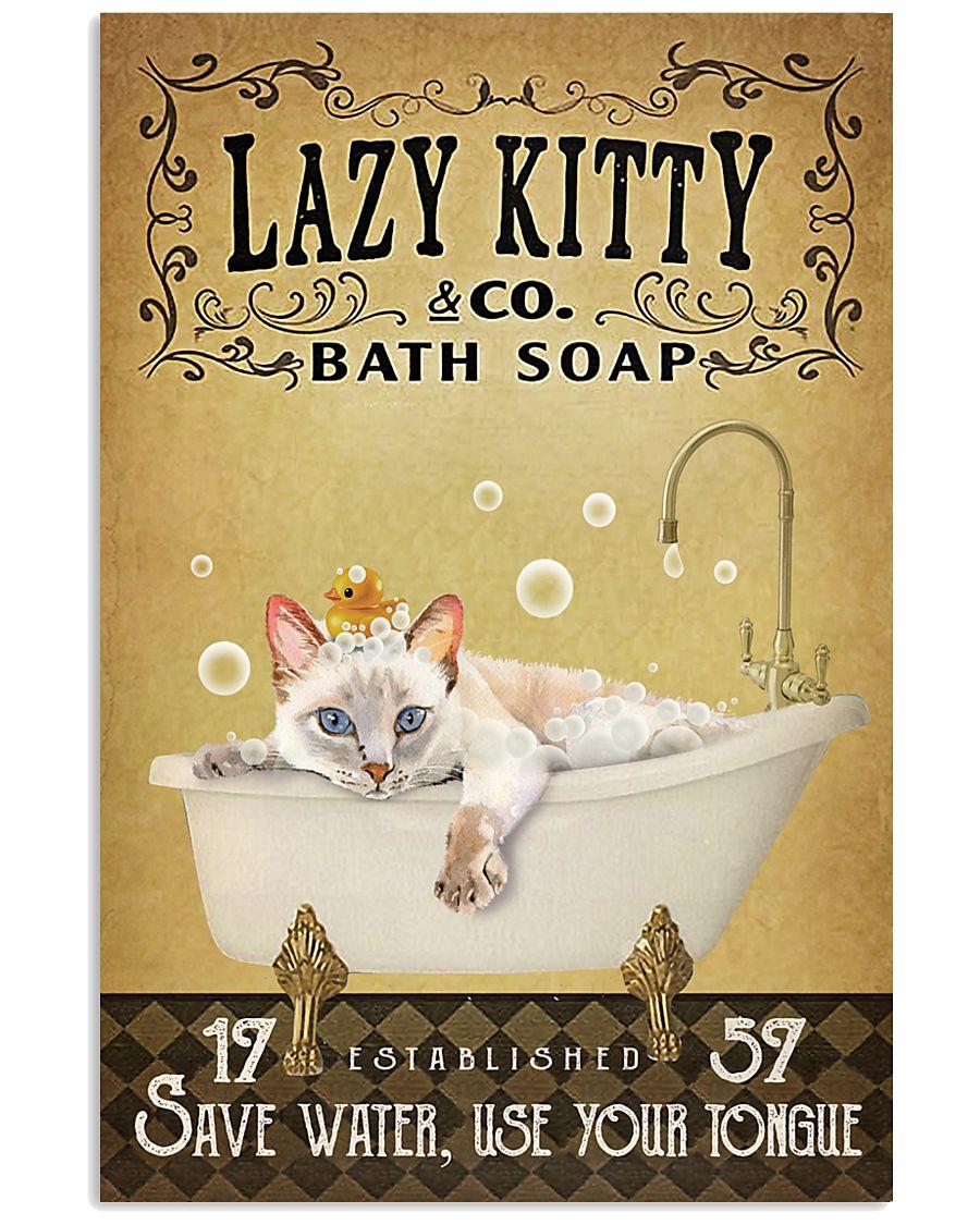 Yellow Bath Soap Siamese Cat 11x17 Poster