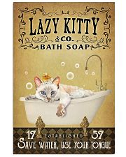 Yellow Bath Soap Siamese Cat 11x17 Poster front