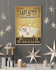 Yellow Bath Soap Siamese Cat 11x17 Poster lifestyle-holiday-poster-1