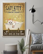 Yellow Bath Soap Siamese Cat 11x17 Poster lifestyle-poster-1