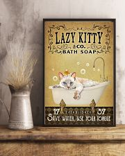 Yellow Bath Soap Siamese Cat 11x17 Poster lifestyle-poster-3