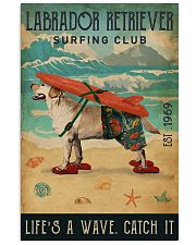Surfing Club Labrador Retriever  11x17 Poster front