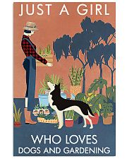 Vintage Just A Girl Loves Gardening And Husky 11x17 Poster front