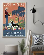 Vintage Just A Girl Loves Gardening And Husky 11x17 Poster lifestyle-poster-1