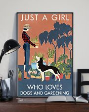 Vintage Just A Girl Loves Gardening And Husky 11x17 Poster lifestyle-poster-2