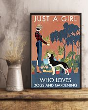 Vintage Just A Girl Loves Gardening And Husky 11x17 Poster lifestyle-poster-3