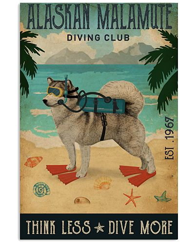 Vintage Diving Club Alaskan Malamute