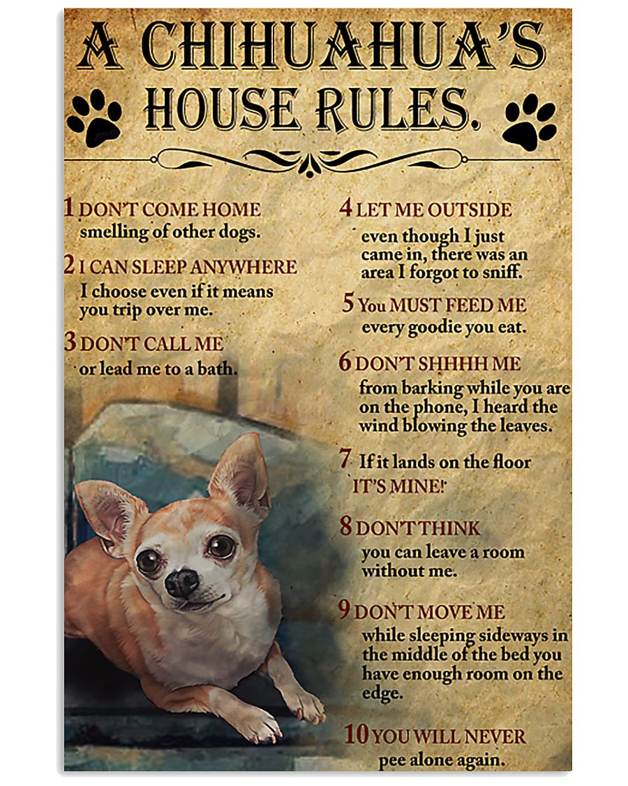A Chihuahua's House Rules 11x17 Poster