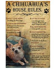 A Chihuahua's House Rules 11x17 Poster front