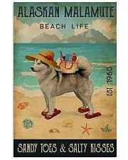 Beach Life Sandy Toes Alaskan Malamute 11x17 Poster front
