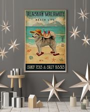 Beach Life Sandy Toes Alaskan Malamute 11x17 Poster lifestyle-holiday-poster-1