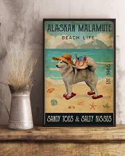 Beach Life Sandy Toes Alaskan Malamute 11x17 Poster lifestyle-poster-3