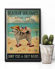 Beach Life Sandy Toes Alaskan Malamute 11x17 Poster lifestyle-poster-8