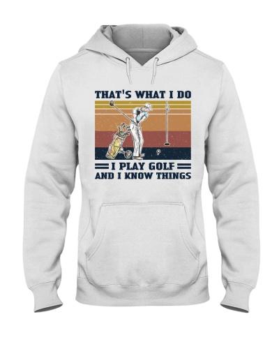 Retro Navy I Do I Know Things Play Golf