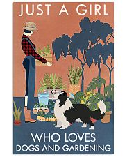 Vintage Just A Girl Loves Gardening Border Collie 11x17 Poster front