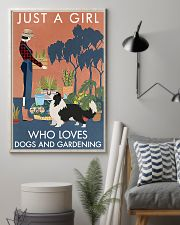 Vintage Just A Girl Loves Gardening Border Collie 11x17 Poster lifestyle-poster-1