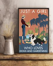 Vintage Just A Girl Loves Gardening Border Collie 11x17 Poster lifestyle-poster-3