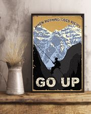 When Nothing Goes Right Go Up Climbing 11x17 Poster lifestyle-poster-3