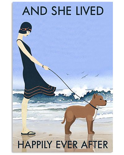 Beach And Dog Pit Bull