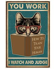 Retro I Watch And Judge Cat 11x17 Poster front