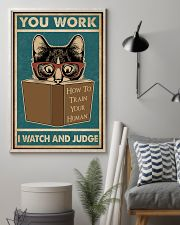 Retro I Watch And Judge Cat 11x17 Poster lifestyle-poster-1