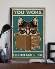 Retro I Watch And Judge Cat 11x17 Poster lifestyle-poster-2