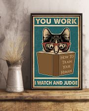 Retro I Watch And Judge Cat 11x17 Poster lifestyle-poster-3