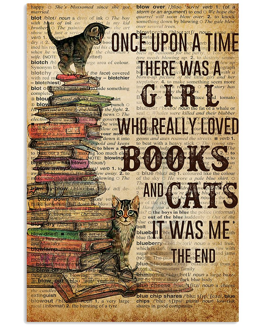 Books Cats Once Upon A Time 16x24 Poster
