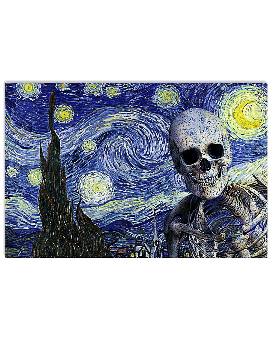Starry Night Skeleton 17x11 Poster