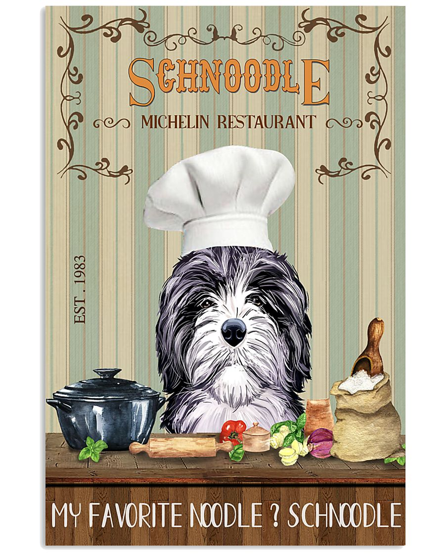 Schnoodle Michelin Restaurant And Dog 11x17 Poster