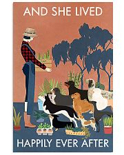 Vintage And She Lived Happily Dogs Gardening 11x17 Poster front